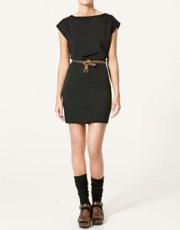 petite robe noire ceinturée