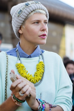 Elisa Nalin at Kenzo - photo@TheSartorialist - Paris Fashion Week SS 2013
