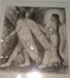 Chagall-L hoe guidé par l éternel ds la voie droite 1952, lithographie