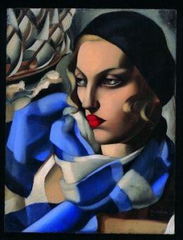 L'Écharpe bleue - Tamara de Lempicka, 1930