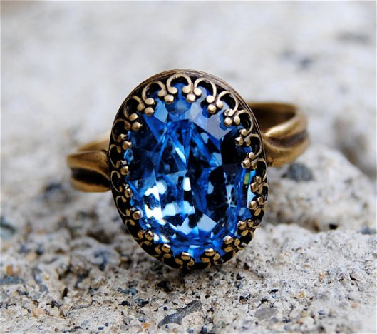 Bague vintage blue Ice Mashugana