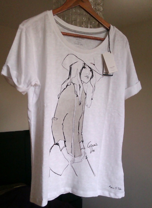 T-shirt Bio Garance Doré pour Marc O'Polo / photo Jicky@Destylesenaiguilles
