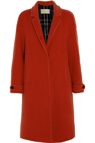 manteau rouge burberry grit
