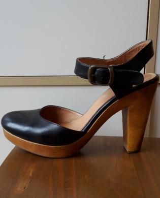 sandales salomé andre bois noir 404