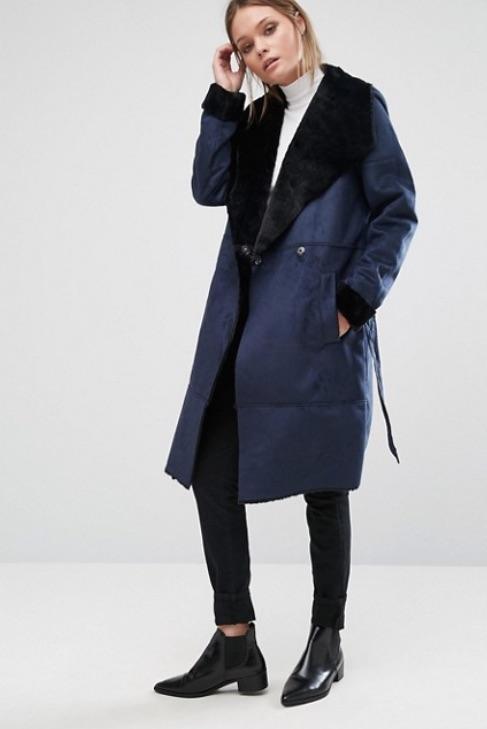 Styles Fausse Peau En Le Manteau Lainée De Aiguilles YEqEw