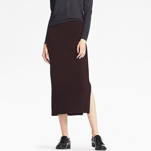 e0acf90e3a3a7d La jupe crayon en maille Uniqlo | De Styles en Aiguilles