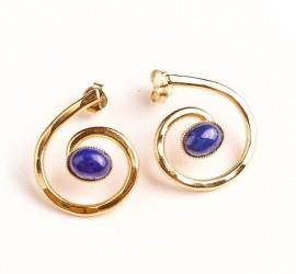 Boucles or et lapis lazuli Ludovic Goupil